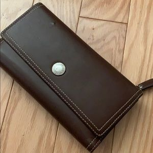 Brown & Lavendar Coach Wallet